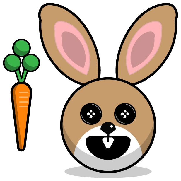 Hunny Bunnys Stickers - Rabbit Emoji Meme messages sticker-8