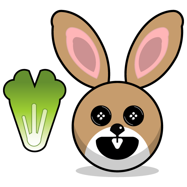 Hunny Bunnys Stickers - Rabbit Emoji Meme messages sticker-10