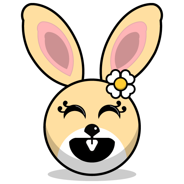 Hunny Bunnys Stickers - Rabbit Emoji Meme messages sticker-5