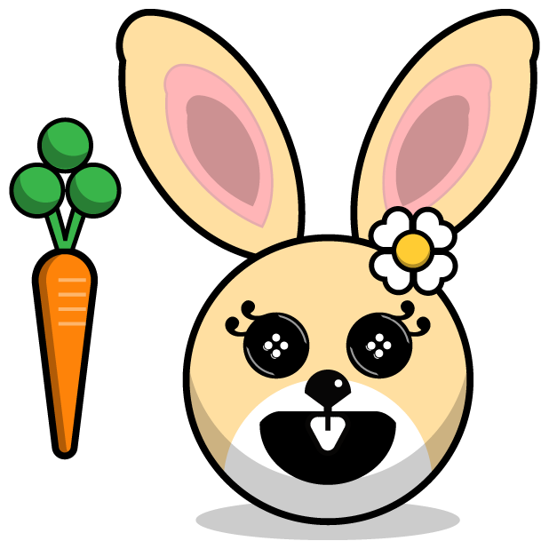 Hunny Bunnys Stickers - Rabbit Emoji Meme messages sticker-9