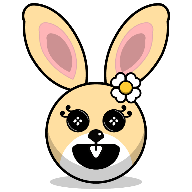 Hunny Bunnys Stickers - Rabbit Emoji Meme messages sticker-3