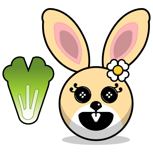 Hunny Bunnys Stickers - Rabbit Emoji Meme messages sticker-11