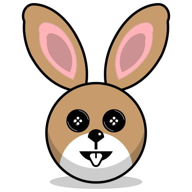 Hunny Bunnys Stickers - Rabbit Emoji Meme messages sticker-0