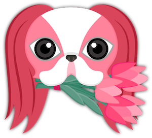 Valentine's Day Japanese Chin messages sticker-2