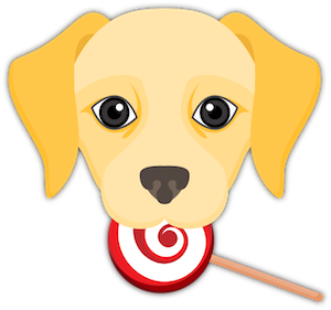 Yellow Labrador Emoji messages sticker-6