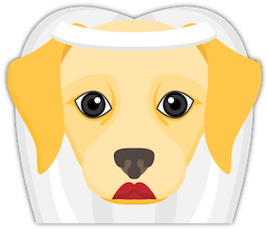 Yellow Labrador Emoji messages sticker-3