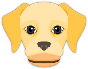 Yellow Labrador Emoji messages sticker-4