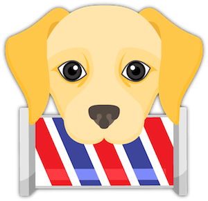 Yellow Labrador Emoji messages sticker-1