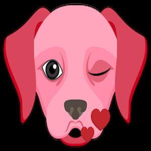 Valentine's Day Labrador messages sticker-0