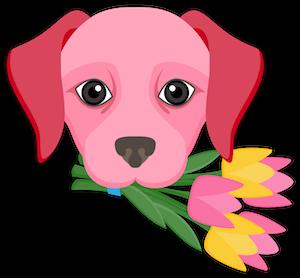 Valentine's Day Labrador messages sticker-3