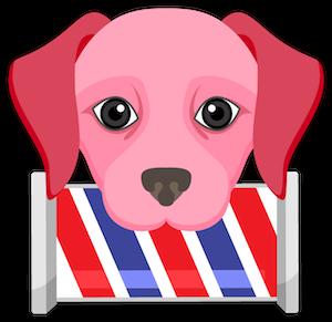 Valentine's Day Labrador messages sticker-2