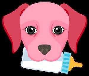 Valentine's Day Labrador messages sticker-1