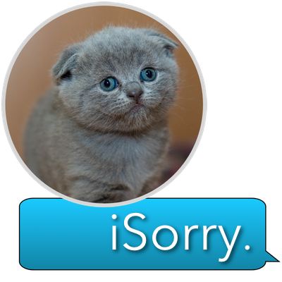 iSorry: a·PAW·logy Stickers messages sticker-0