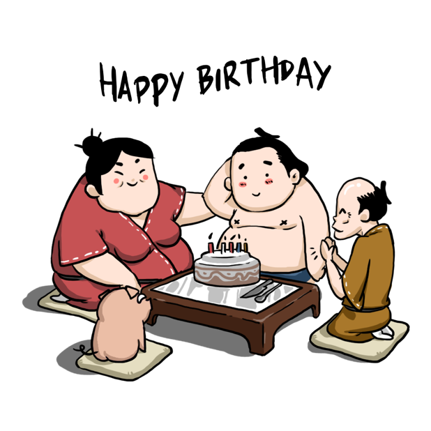 Ringo the Sumo Wrestler stickers messages sticker-6