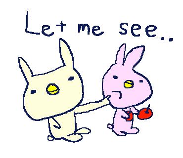Cute Rabbit Stickers!! messages sticker-4