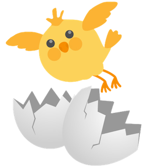 Cute Chickens - Fc Sticker messages sticker-6