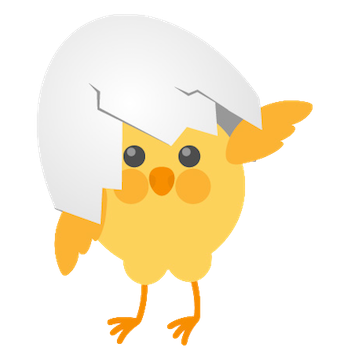 Cute Chickens - Fc Sticker messages sticker-3