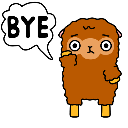 Funny Sheep Stickers messages sticker-1