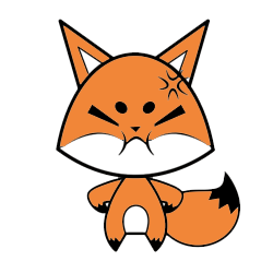 Cute Foxy Stickers messages sticker-0