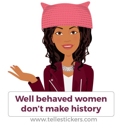 Telle Women's March stickers E messages sticker-0