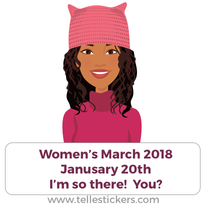 Telle Women's March stickers E messages sticker-6