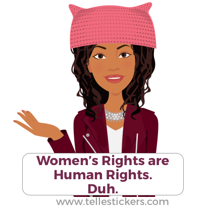 Telle Women's March stickers E messages sticker-7