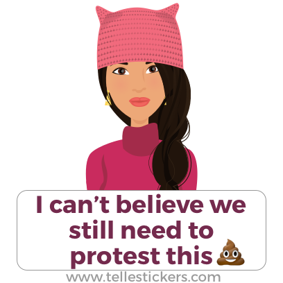 Telle Women's March stickers L messages sticker-1