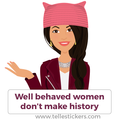 Telle Women's March stickers L messages sticker-0