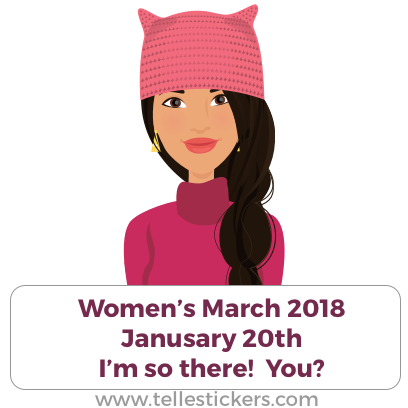 Telle Women's March stickers L messages sticker-6