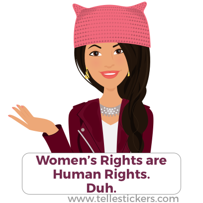 Telle Women's March stickers L messages sticker-7