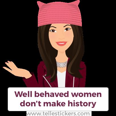 Telle Women's March stickers D messages sticker-0