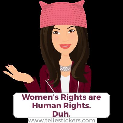 Telle Women's March stickers D messages sticker-7