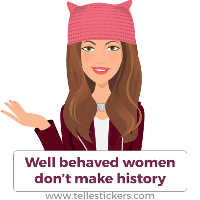 Telle Women's March stickers K messages sticker-0