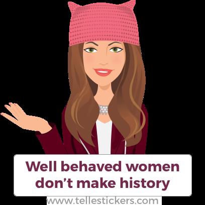 Telle Women's March stickers K messages sticker-0
