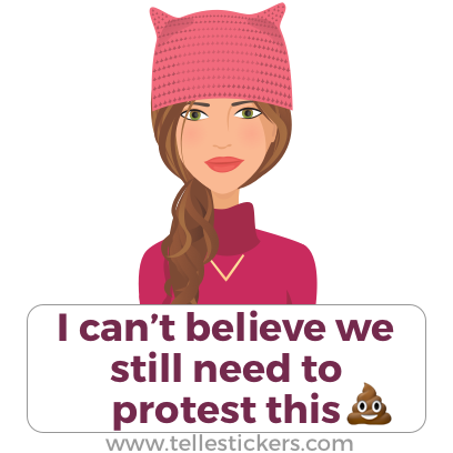 Telle Women's March stickers K messages sticker-1