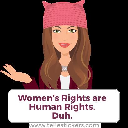 Telle Women's March stickers K messages sticker-7
