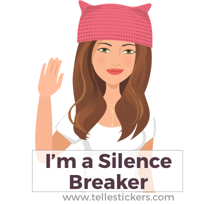 Telle Women's March stickers K messages sticker-2