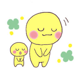 Funny Yellow Man Stickers messages sticker-4