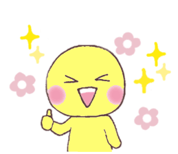 Funny Yellow Man Stickers messages sticker-9