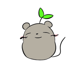 Grey Mousy Stickers messages sticker-0