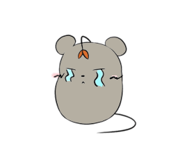 Grey Mousy Stickers messages sticker-11
