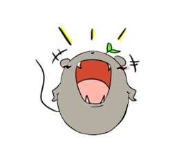 Grey Mousy Stickers messages sticker-5