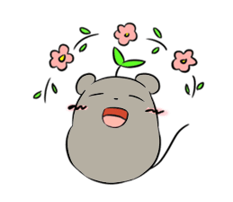 Grey Mousy Stickers messages sticker-1