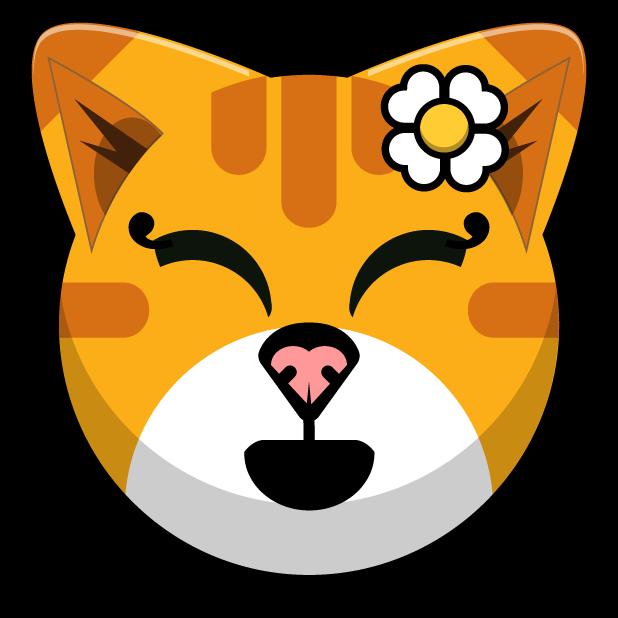 Kitty Cat Stickers - Feline Emoji Meme messages sticker-5
