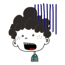 Curly Boy Stickers messages sticker-5