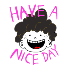 Curly Boy Stickers messages sticker-7