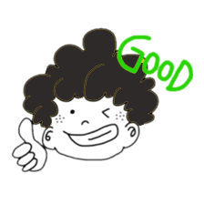 Curly Boy Stickers messages sticker-0