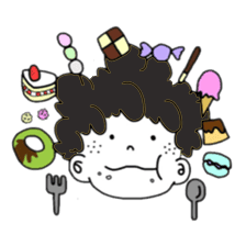 Curly Boy Stickers messages sticker-8
