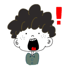 Curly Boy Stickers messages sticker-2