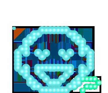 Neon message messages sticker-9